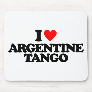 I LOVE ARGENTINE TANGO MOUSE PAD