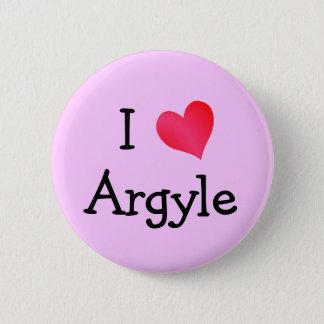 I Love Argyle 6 Cm Round Badge