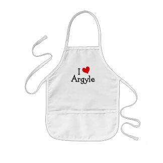 I Love Argyle Kids Apron
