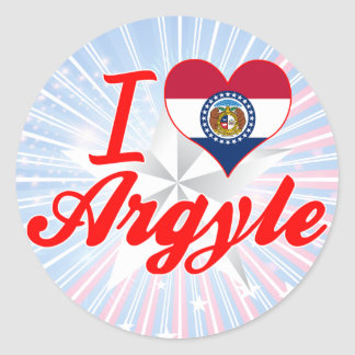 I Love Argyle Missouri Round Sticker