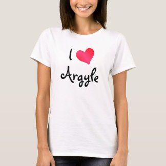 I Love Argyle T-Shirt