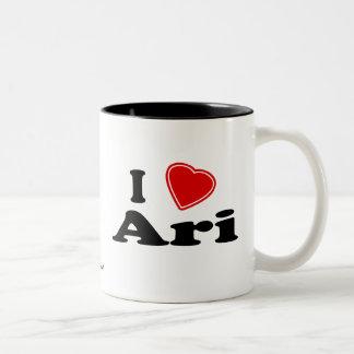 I Love Ari Two-Tone Coffee Mug