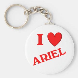 I Love Ariel Keychains