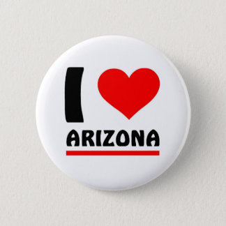 I love Arizona 6 Cm Round Badge