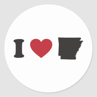 I Love Arkansas Classic Round Sticker