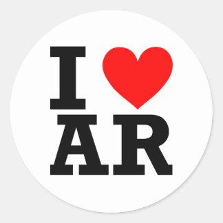 I Love Arkansas Design Classic Round Sticker