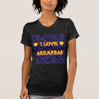 I love arkansas fire and flames t-shirts