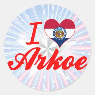 I Love Arkoe, Missouri Stickers