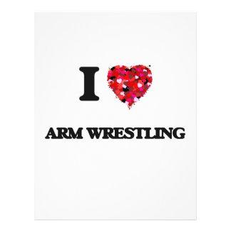 I love Arm Wrestling 21.5 Cm X 28 Cm Flyer