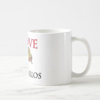I Love Armadillos Coffee Mug