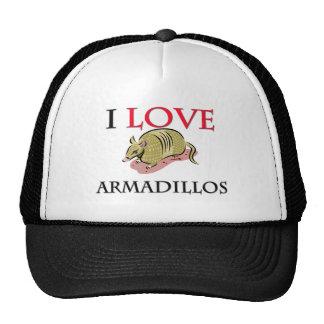 I Love Armadillos Hats