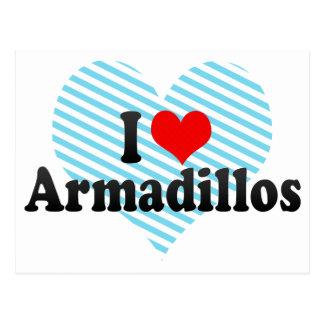 I Love Armadillos Post Card