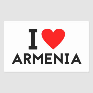 i love Armenia country nation heart symbol text Rectangular Sticker