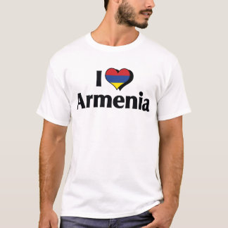 I Love Armenia Flag T-Shirt