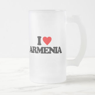 I LOVE ARMENIA FROSTED GLASS MUG