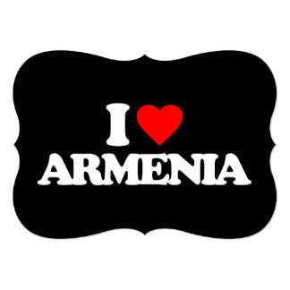 I LOVE ARMENIA 5X7 PAPER INVITATION CARD