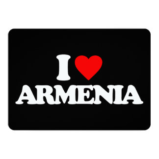 I LOVE ARMENIA 13 CM X 18 CM INVITATION CARD