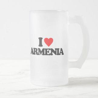I LOVE ARMENIA FROSTED GLASS MUG