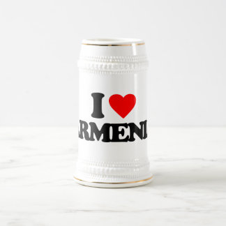 I LOVE ARMENIA 18 OZ BEER STEIN