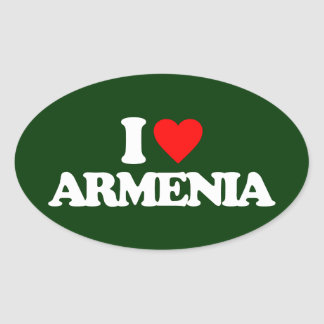I LOVE ARMENIA OVAL STICKER