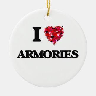 I Love Armories Round Ceramic Decoration