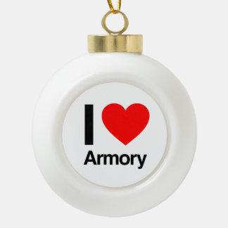 i love armory ornament