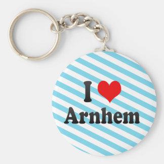 I Love Arnhem, Netherlands Basic Round Button Key Ring