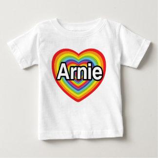 I love Arnie, rainbow heart Baby T-Shirt