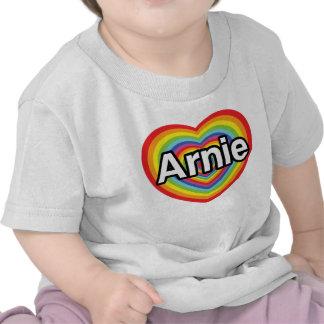 I love Arnie rainbow heart Tees