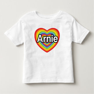 I love Arnie, rainbow heart Toddler T-Shirt