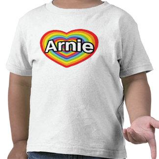 I love Arnie rainbow heart T Shirt