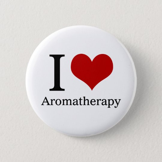 I Love Aromatherapy 6 Cm Round Badge