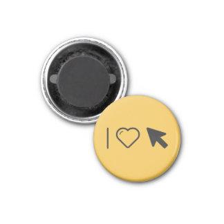 I Love Arrows 3 Cm Round Magnet
