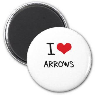 I Love Arrows Refrigerator Magnet