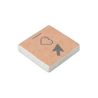 I Love Arrows Stone Magnet