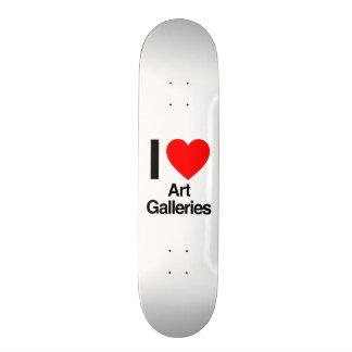 i love art galleries skateboard deck