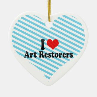 I Love Art Restorers Ceramic Heart Decoration