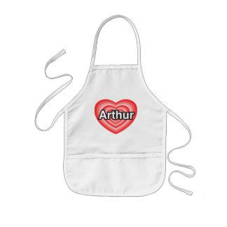 I love Arthur. I love you Arthur. Heart Aprons