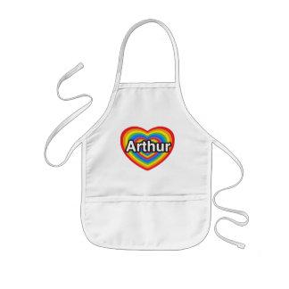 I love Arthur I love you Arthur Heart Apron