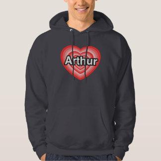 I love Arthur. I love you Arthur. Heart Hooded Pullovers