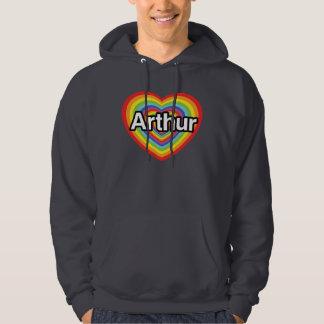 I love Arthur, rainbow heart Hooded Sweatshirt