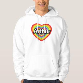 I love Arthur, rainbow heart Hooded Sweatshirts