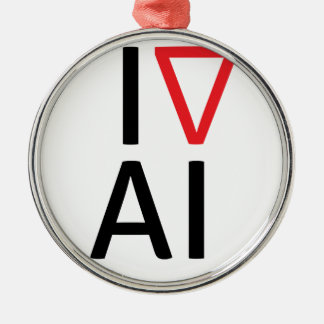 I love artificial intelligence christmas ornament