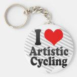 I love Artistic Cycling Key Chain
