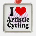 I love Artistic Cycling Ornament