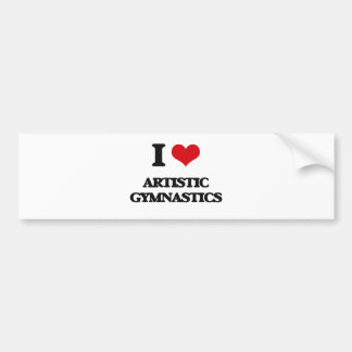 I Love Artistic Gymnastics Bumper Sticker