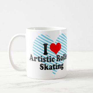 I love Artistic Roller Skating Basic White Mug
