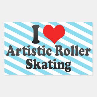 I love Artistic Roller Skating Rectangular Sticker