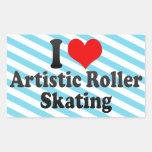 I love Artistic Roller Skating Sticker