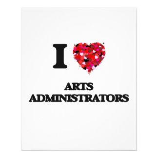I love Arts Administrators 11.5 Cm X 14 Cm Flyer